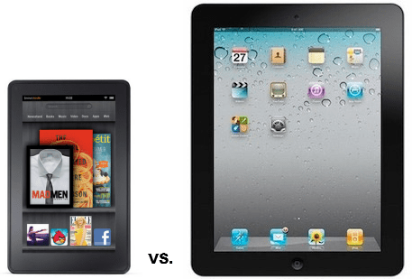 Amazon et Apple: comparaison entre la tablette Kindle Fire et l'iPad 2
